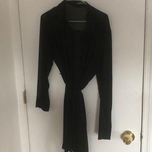 Black express button down dress